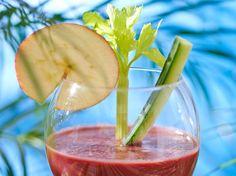 Voir la recette du smoothie de légumes Healthy Juices, Alcoholic Drinks, Cocktails, Low Carb, Nutrition, Diet, Vegan, Fresh, Food