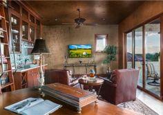 Home Office Horseshoe Bay Texas Tuscan Villa by Zbranek and Holt Custom Homes, Horseshoe Bay Custom Home Builders