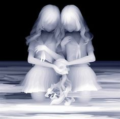 "Monochromatic Paintings Feature Layers of Raw Emotion  By Kazuki Takamatsu    The girls in these paintings have a haunting beauty that seamlessly blends youthful innocence with eerie suggestions of death. In his work, Japanese artist Kazuki Takamatsu makes artwork that explores the emotional aspects of Japanese society. He says, ""My art deals with a fictional form of death…a metaphor for people losing their soul and place in society."" Via:MyModernMet"