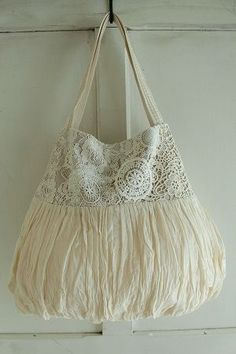 veerle Lanka shoulder bag - crochetcolor Ivory, Material Cotton, other, made in JAPAN, size width 27 ~ 42cm, height 35cm, handle 46cm