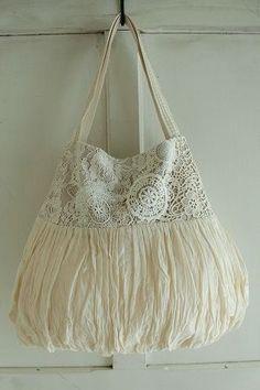 veerle Lanka shoulder bag - crochetcolor Ivory, Material Cotton, other, made in JAPAN, size width 27 ~ 42cm, height 35cm, handle 46cm