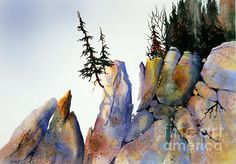 Just like the rocky areas around my home... love it! Teresa Ascone WATERCOLOR
