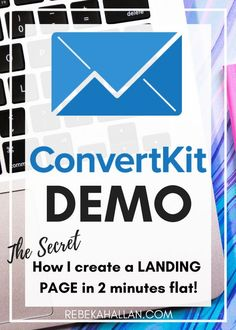 ConvertKit Demo & Review | CONVERTKIT DEMO & REVIEW (THE 2 MINUTE OPT IN)  February 2, 2017  I absolutely love ConvertKit. It is a brilliant email service provider, for collecting emails, creating landing pages (I can in 2 minutes flat) and for converting email subscribers into sales! Ca-ching!