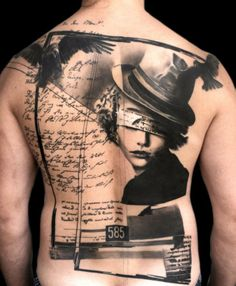 """I see more and more of these (a tattoo that looks like a painting with brush strokes), if I get another tattoo, I want a """"painted"""" tattoo. :)"""