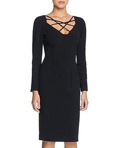 Black Halo Masca Sheath Dress Size 6 #B192 MSRP $375.00 #BlackHalo #SheathStretchBodycon #WeartoWork