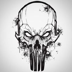 Little vector mouse click warm up with a Punisher . Little vector mouse click warm up with a Punisher . Skull Tattoos, Body Art Tattoos, Tattoo Drawings, Art Drawings, Totenkopf Tattoos, Geniale Tattoos, Arte Horror, Skull Design, Skull And Bones