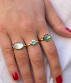 Golden Green Faceted Tourmaline Ring - Audry Rose
