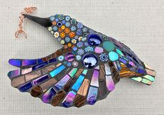 Inspirational art gallery of mosaics available to buy and information on mosaic classes from British artist, Kate Rattray, known for her colourful work and innovative style Mosaic Garden Art, Mosaic Diy, Mosaic Crafts, Mosaic Wall, Mosaic Glass, Mosaic Animals, Mosaic Birds, Kingfisher Bird, Stencil Designs