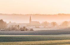 Brécy-Brières au lever du jour. 29 décembre 2016 © Dominique LEMOINE #Ardennes #France