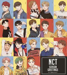 NCT ot18 fanart Pretty Art, Cute Art, Kpop Backgrounds, Nct Johnny, K Pop Star, Mark Nct, Jisung Nct, Kpop Fanart, Jaehyun