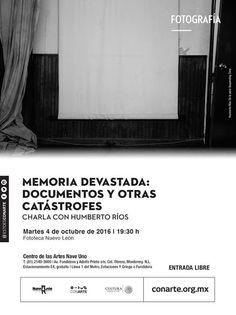#FOTO La fotografía como documento y arte! Acompáñanos en esta charla con Humberto Ríos y conoce más sobre sus procesos sus inspiraciones y su obra que lo lleva a lugares históricos recuerdos y simbolismos.  Este martes 4 de octubre en la #Fototeca de Centro de las Artes 19:30 h | Entrada Libre #EstoEsCONARTE