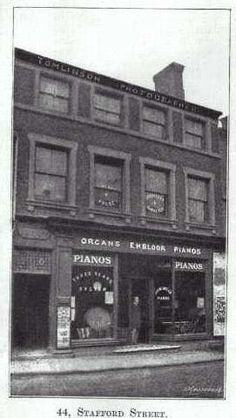 Bloor, piano shop at 44 Stafford Street, Longton Piano Shop, Old Pottery, Stoke On Trent, Local History, Old And New, Old Photos, Past, Street, Pictures
