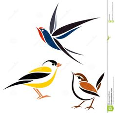 Stylised birds. A bit too clean & crisp but I like the colour blocks