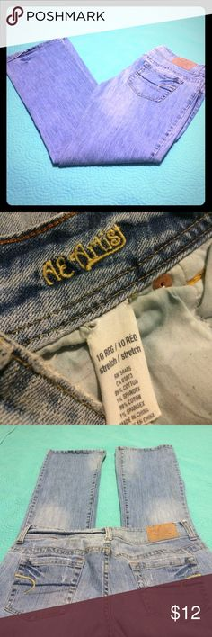 """AE Artist Jeans - Bootcut Lightly """"destroyed"""". Faded blue color. Stretch jeans. American Eagle Outfitters Jeans Boot Cut"""