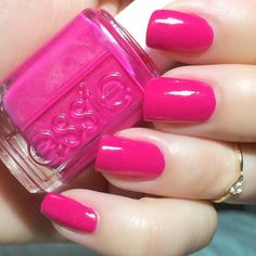 I wore Essie~bachelorette bash today for Its also Essie's color of the month. Essie Colors, Nail Colors, Colours, Essie Pink Nail Polish, Nail Polishes, Cute Nails, My Nails, Kate Bryan, National Pink Day