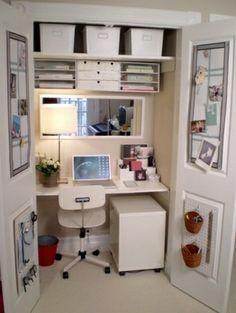 craft room in closet   closet craft room   organize DIY ideas