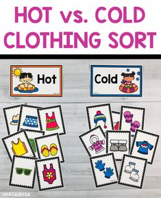 Hot vs. Cold Clothing Sorting Activity
