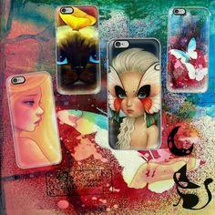 Midnight Garden. Cat & Anime phone designs.