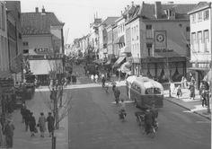 Groningen<br />De stad Groningen: De Herestraat in 1955