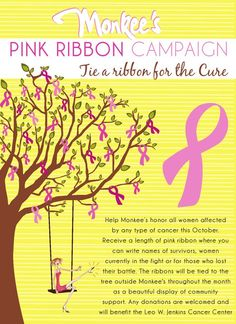 Love the idea of a tree with the pink ribbon