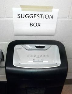 Humor on suggestion box