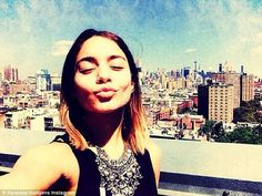 'Bye bye NYC': Before she left the Big Apple, she posted this selfie to her Instagram page on Thursday
