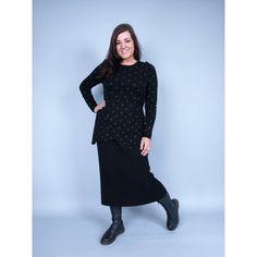 Rimini Knitted Black Skirt