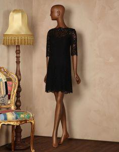 Au coeur lace shift dress Women - Dresses Women on Dolce&Gabbana Online Store United Kingdom - Dolce & Gabbana Group