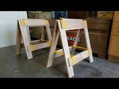 Plywood Sawhorse/Assembly Table/Workbench/Crosscut Table Project - Part 1 - YouTube