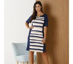 Pruhované šaty   modino.sk #modino_sk #modino_style #style #fashion #blancheporte Short Sleeve Dresses, Dresses With Sleeves, Dresses For Work, Style Fashion, Sleeve Dresses, Gowns With Sleeves, Fashion Styles