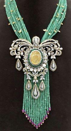 Diamond Jewelry, Beaded Jewelry, Jewellery Designs, Indian Jewelry, Jewels, Beads, Pendant, Fashion, Diamond Jewellery