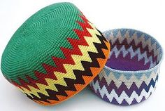 Tapestry Crochet fun hats. Look on the webside for more ideas