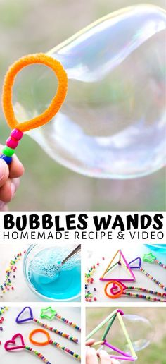 Set up a fun geometric bubble activity for the kids using everyday items. Can you make different shape bubbles? Easy STEM challenge for kids. Bubble Activities, Summer Preschool Activities, Art Activities For Kids, Stem Activities, Toddler Activities, Learning Activities, Bubble Games For Kids, Preschool Science, Camping Activities