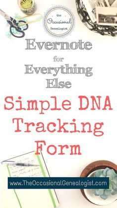 I'm providing another Evernote form for Freebie Friday. Starting genetic genealogy, this simple form can help you get organized. Using DNA for genealogy can break through brick walls but can easily become overwhelming. Dna Research, Family Research, Genealogy Forms, Genealogy Research, Free Genealogy, Family Genealogy, Evernote, Dna Project, Project Ideas