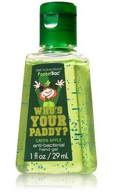 Bath & Body Works Who's Your Paddy anti-bacterial hand gel, just a part of a small collection issued for St. Patric's day   So you guys are finding for that bathing product , you people have come to the right place. Check it at http://bathandbodyguide.blogspot.com/