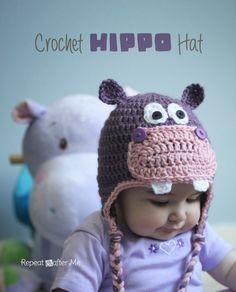 2387.- Gorros de crochet | Labores en Red imagen via repeat crafter me