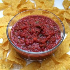 Make healthy salsa FAST in the blender! | Being Spiffy