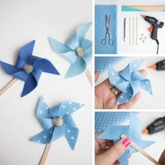 Wie macht man ein DIY Windrad in pannolenci - Διαφορά Diy - Wie macht man ein DIY Windrad in pannolenci - Διαφορά Diy Idee Baby Shower, Baby Boy Shower, Baby Shower Gifts, Summer Crafts, Diy And Crafts, Crafts For Kids, Paper Crafts, Kite Decoration, Butterfly Party Favors