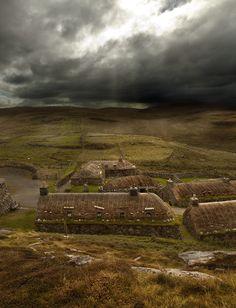 Blackhouses on the Isle of Lewis