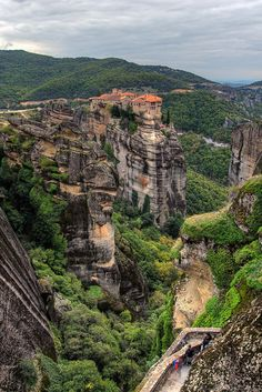 Meteora - one of the most important complexes of Greek Orthodox monasteries in Greece