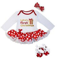 Kirei Sui Baby First Christmas Gift Bodysuit Shoes Small ... https://www.amazon.com/dp/B01N3M25FL/ref=cm_sw_r_pi_dp_x_ZBWhzb1D9C5P6