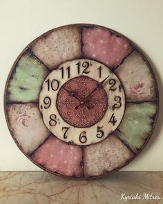 Rustic Crafts, Diy Home Crafts, Decoupage, American Flag Art, Kitchen Clocks, Diy Clock, Wooden Hearts, Color Of Life, Altered Art