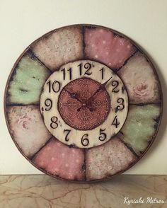 Rustic Crafts, Diy Home Crafts, Easy Crafts, Arts And Crafts, Clock Art, Diy Clock, Clocks, Decoupage, American Flag Art