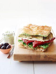 Veggie Focaccia .....Easy Recipes for Unique Sandwiches - Good Housekeeping