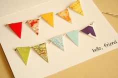 DIY :: Paper Bunting Greeting Card