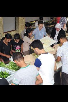 Syrian First Lady Asma preparing food for orphans for Ramdan 2013