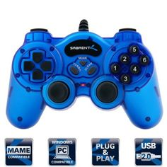 GamePad Sabrent Twelve-Button USB 2.0 Game Controller For PC #GamePads #Sabrent