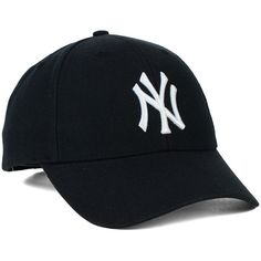 New York Yankees '47 MLB Curved '47 MVP Cap ❤ liked on Polyvore featuring accessories, hats, tall hat, cap hats, new york yankees cap, ny yankees cap and major league baseball caps
