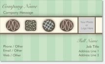 candy chocolate Premium Business Cards