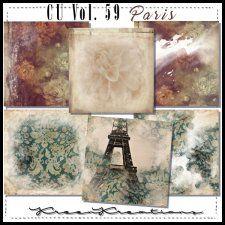 CU Vol. 59 Papers Pack Paris by Kreen Kreation #CUdigitals cudigitals.com cu commercial digital scrap #digiscrap scrapbook graphics
